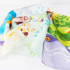 CANTO DE AVES - VALISSE · 100% SILK SCARVES · A PIECE OF ART ·