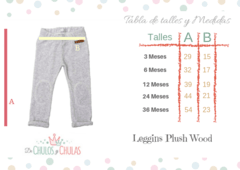 Leggins Plush Wood Aqua - comprar online