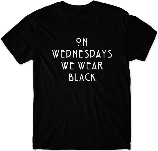 Camiseta American Horror Story - On Wednesdays we wear black