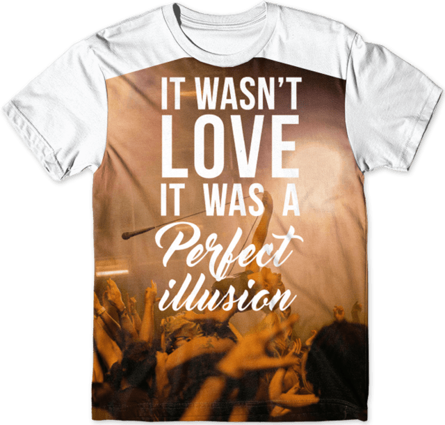 Camiseta - Lady Gaga Perfect Illusion na internet