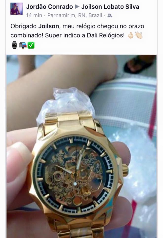 2e5a8384edb Depoimento de clientes - Dali Relógios