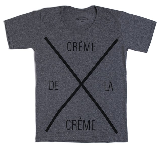 Remera Crème de la Crème Gris - RELAXED FIT