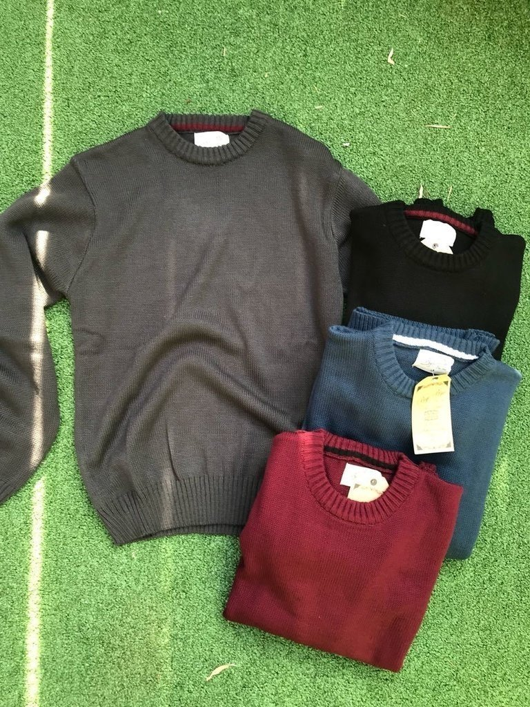 Sweater cuello redondo bordo - comprar online