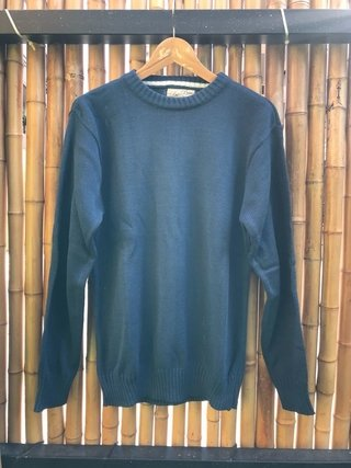 Sweater cuello redondo petroleo