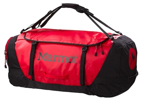MARMOT LONG HAULER DUFFLE BAG LARGE TEAM RED/BLACK (785562626799)