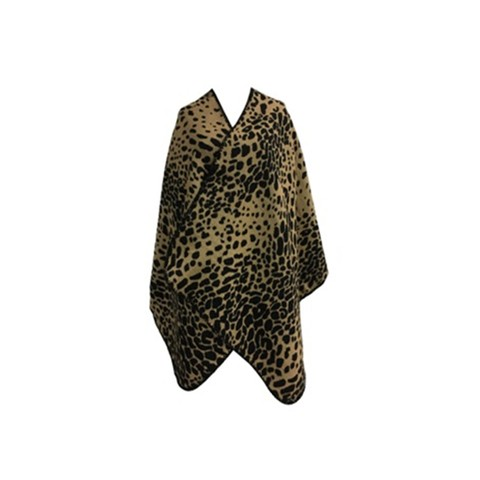Poncho animal print Camel