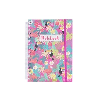 Cuaderno grande tropical