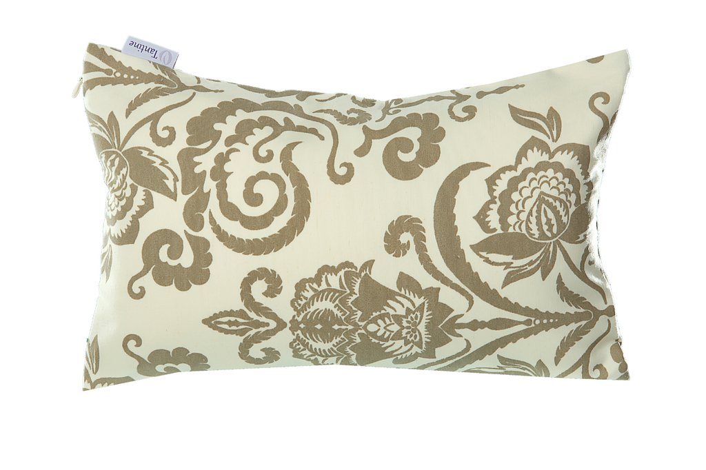 Almofada Floral Bege 25x40 Tantine