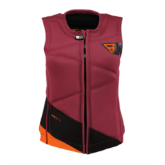 Defence Wake Vest (frontzip) Men Vests Dark Red