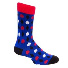 Calcetines azules con rombos - comprar online