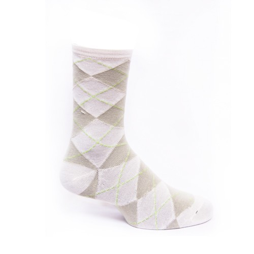 Calcetines blancos con rombos