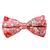 Pink Bowtie with Flowers