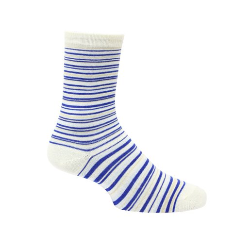 Calcetines Blanco con Lineas Azules