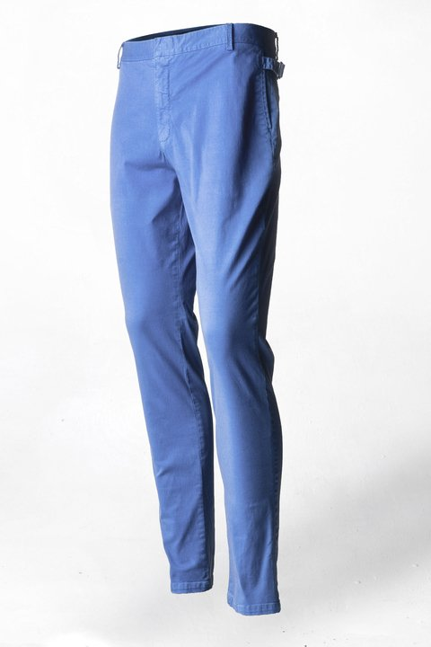 Pantalon de Dril stretch Azul Medio