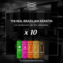 THE REAL BRAZILIAN KERATIN PROMO x 10.