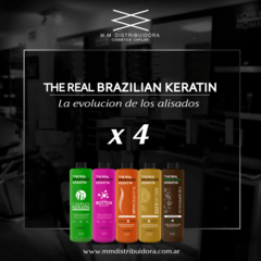 THE REAL BRAZILIAN KERATIN PROMO x 4.
