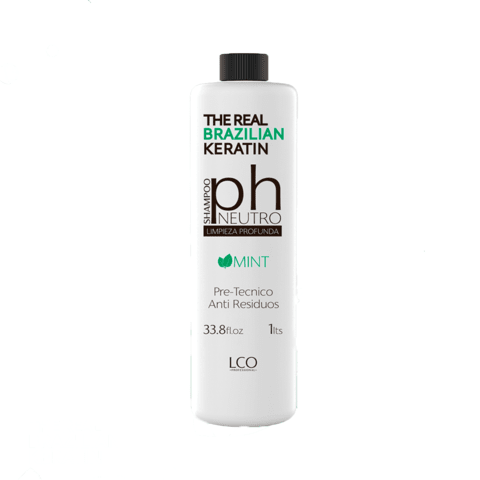 Shampoo PH Neutro, pre-técnico (antiresiduos) - THE REAL BRAZILIAN KERATIN
