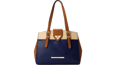 BOLSA RAFITTHY BE FOREVER AZUL/BEGE REF: 22.81156