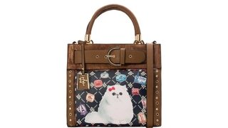 BOLSA RAFITTHY CAT PASSPORT REF.: 31.72126 -  TOFFEE