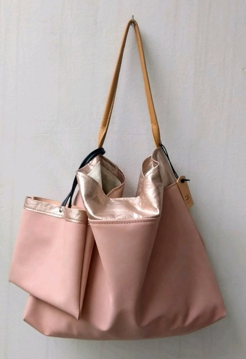 LEVER bag nude