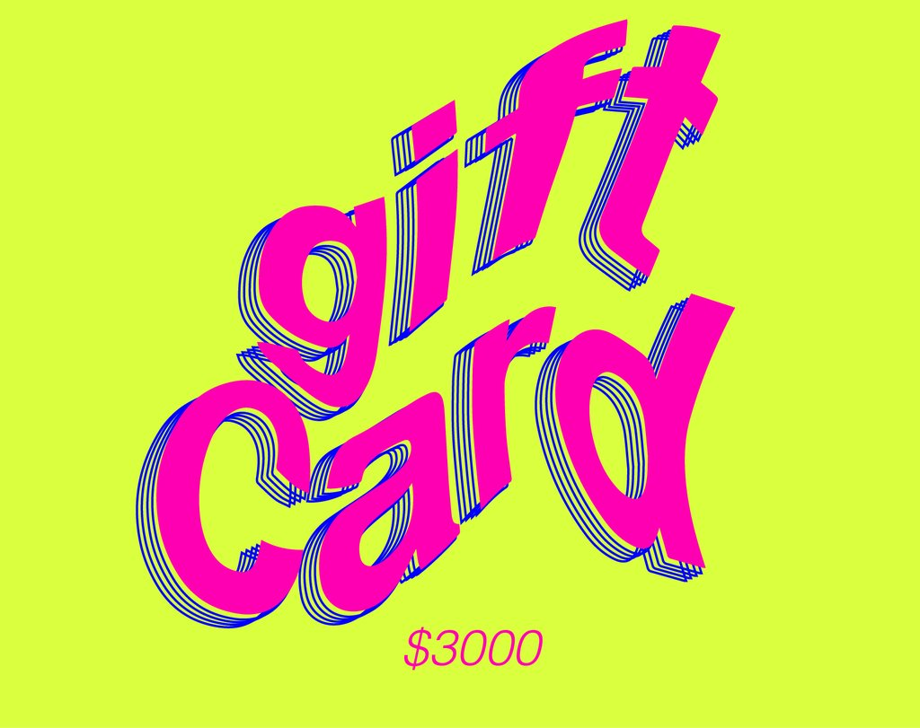 GIFT CARD $3000