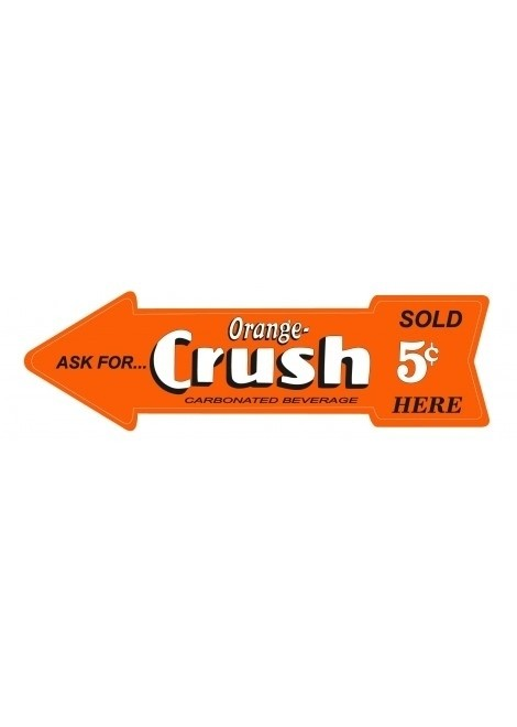 CARTEL FLECHA CRUSH