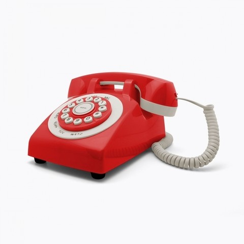 RETRO PHONE 70'S ROJO en internet