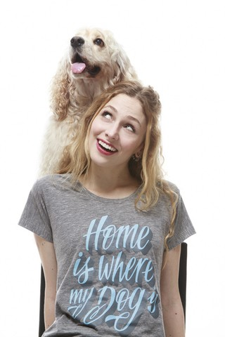 Baby Look - Home is where my dog Is - Bicho é Terapia