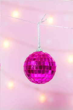 Guirnalda Disco Ball Pink en internet