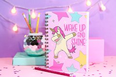 cuaderno unicorio shine