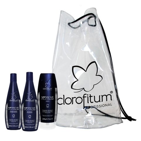 Kit Completo Miracle Platinum - Shampoo 300ml, Leave-in 230G e Pós-Shampoo 300ml + Bolsa Praia - comprar online