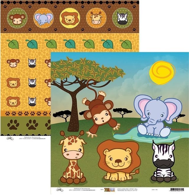 Papel Okscrapbook Safari - Cod. 663