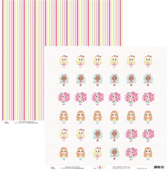 Papel Okscrapbook Candy Girls Tag - Cod. 8402