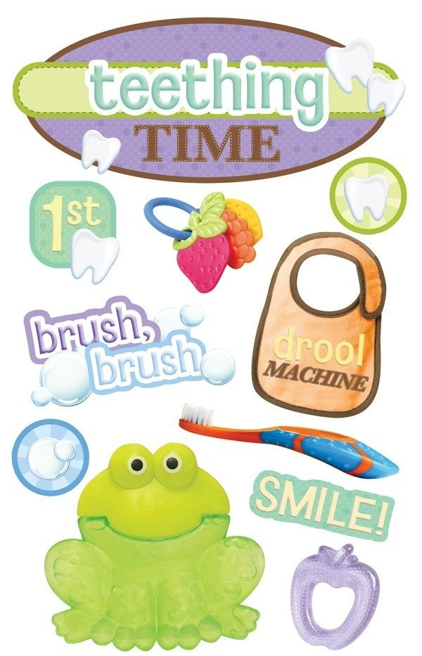 Adesivo 3D Teething Time - Cod.STDM-0142