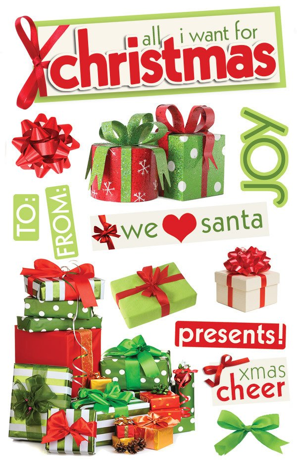 Adesivo 3D All I Want for Christmas - Cod.STDM-0179