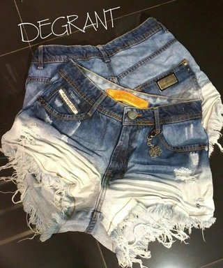 Shorts Hot Pants Degrant Jeans 42 cód. 0369