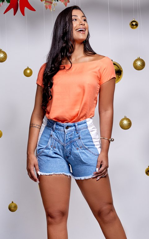 SHORT JEANS LATERAL CLARA #1036019