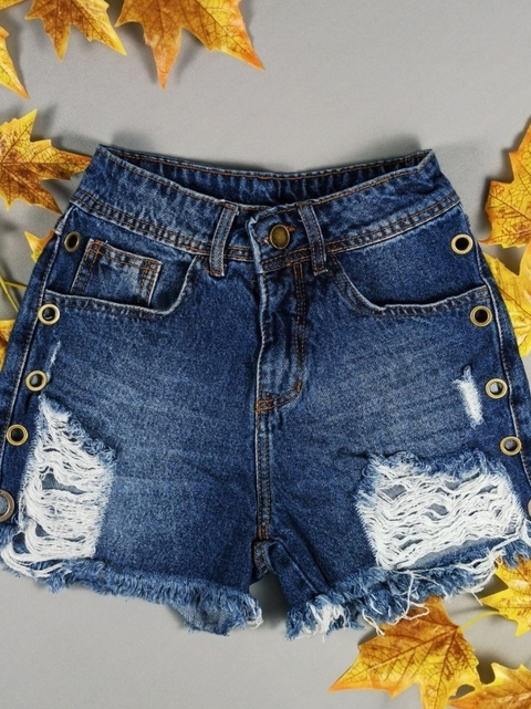 SHORT JEANS ILHOS LATERAL #1440019
