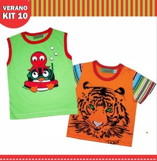KIT 10 VERANO REMERAS