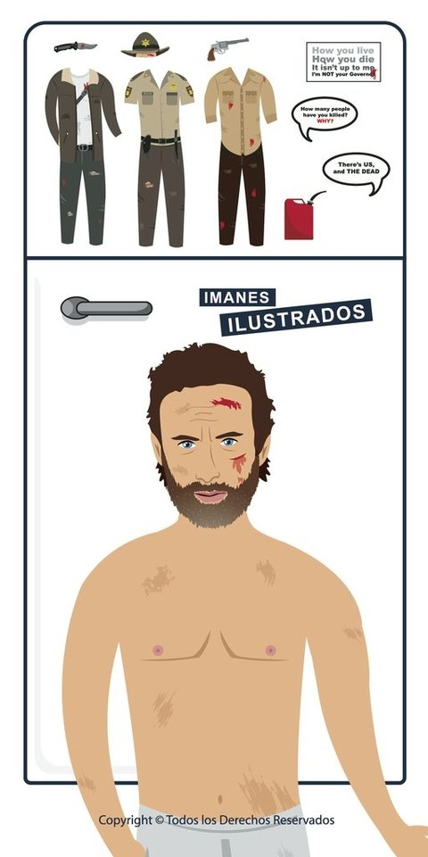 the walking dead rick grimes iman regalo