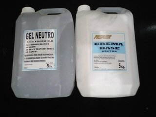 Gel Neutro X 5 Lts. + 5 Kg. De Crema Base Neutra Oferta