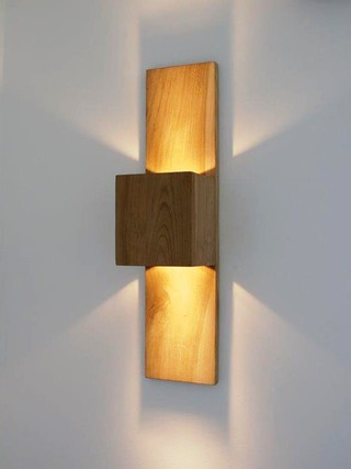Lampara de pared Woodspot Doble 111