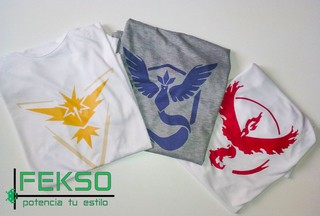 Remeras Pokemon GO
