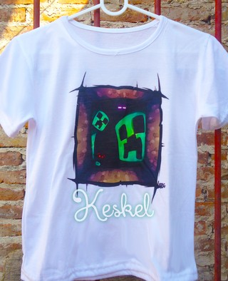Remera Minecraft Creeper