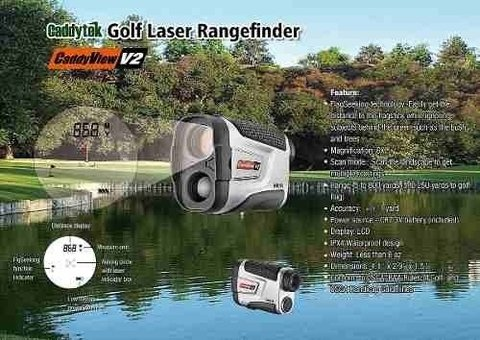 KADDYGOLF | CADDY TEK | LASER CADDYVIEW V2+ CON SLOPE en internet
