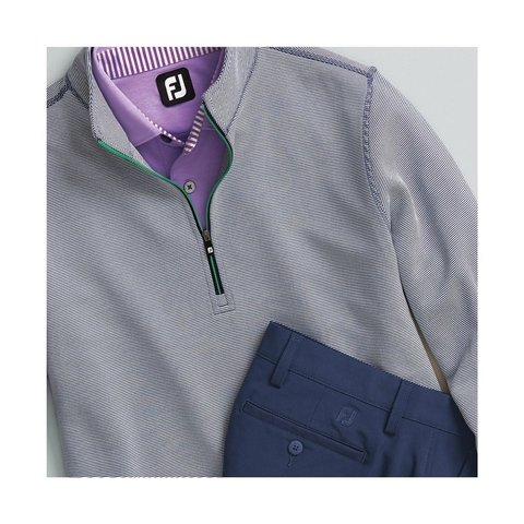 FOOTJOY | BUZO DOUBLE LAYER KNIT STRIPE HALF ZIP MEN 27824 - tienda online