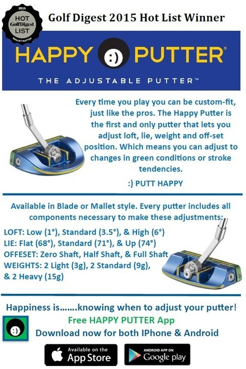 KADDYGOLF | HAPPPY | PUTTER BLADE