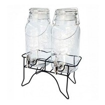 Dispenser para bebidas doble + base - comprar online