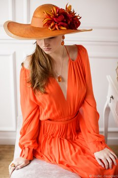 Hat Lady Orange