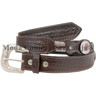 Cinto Country Cowboy De Couro - Mangalarga MCS7173 6751f7ebdb1